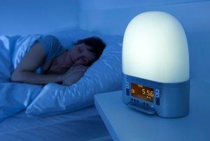 Lichtwecker beim Bett